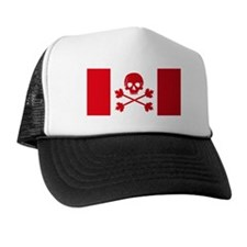 Canadian Pirate Flag Trucker Hat