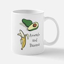 avocado and banana month Mug