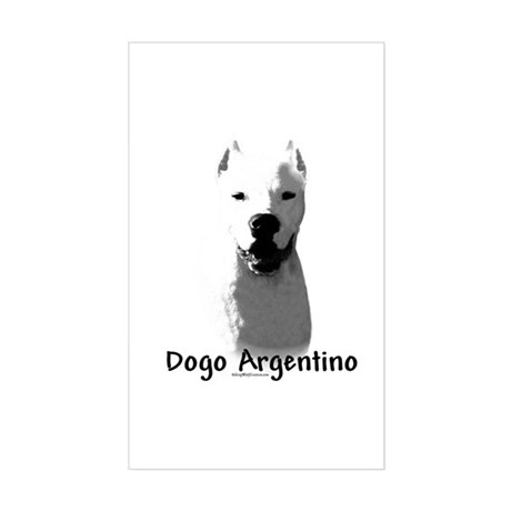 Dogo Charcoal Rectangle Sticker