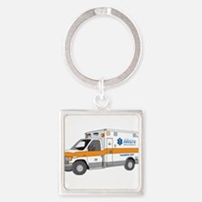 Ambulance Square Keychain