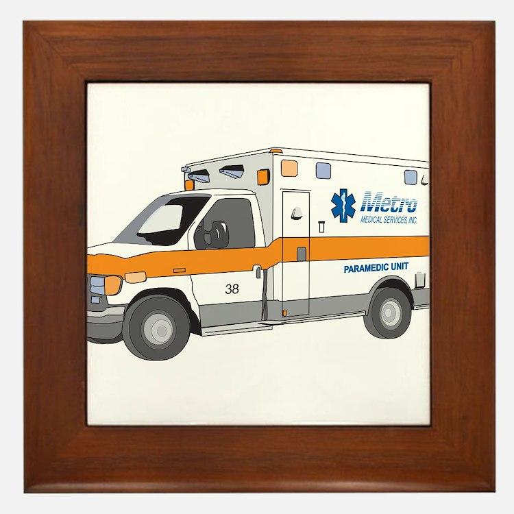 Ambulance Framed Tile