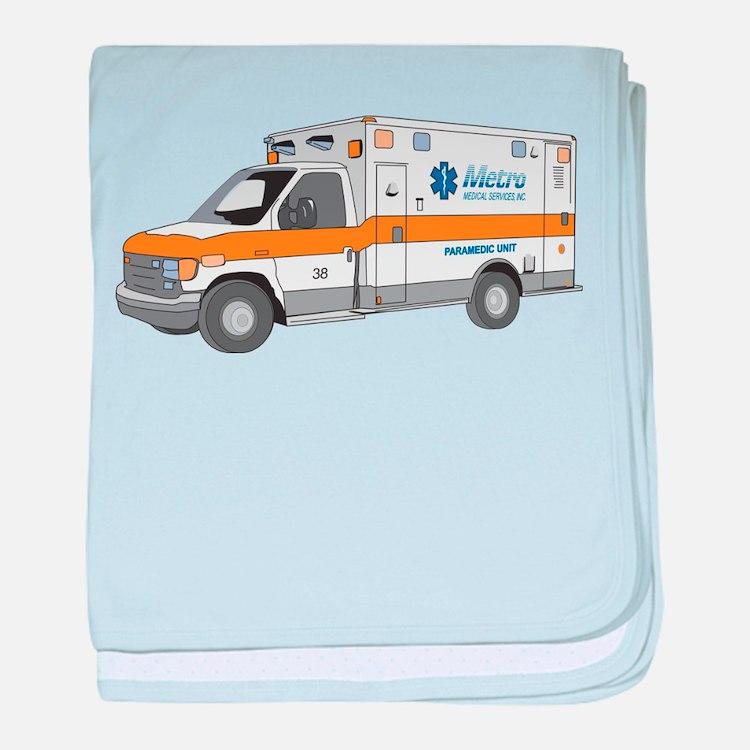 Ambulance baby blanket