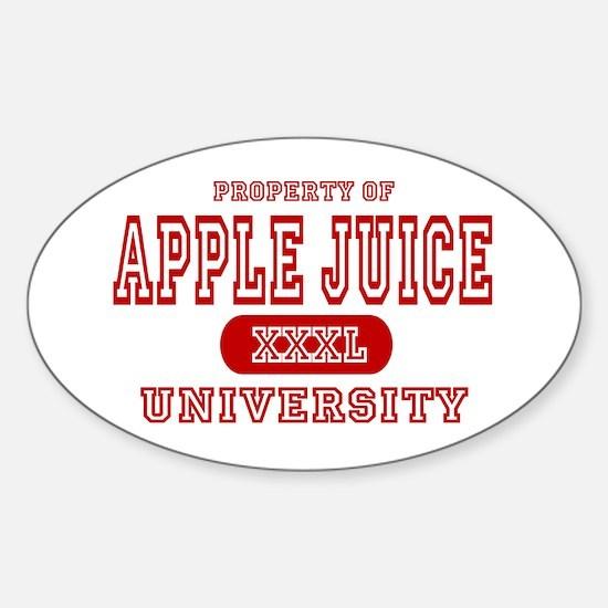 Apple Juice University Oval Decal