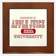 Apple Juice University Framed Tile