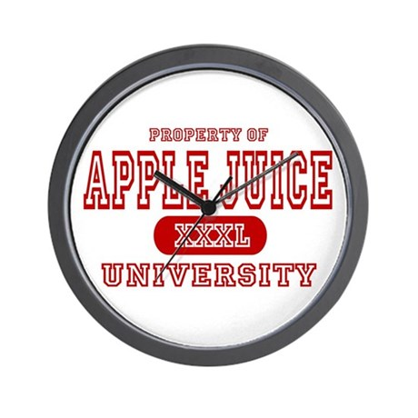 Apple Juice University Wall Clock