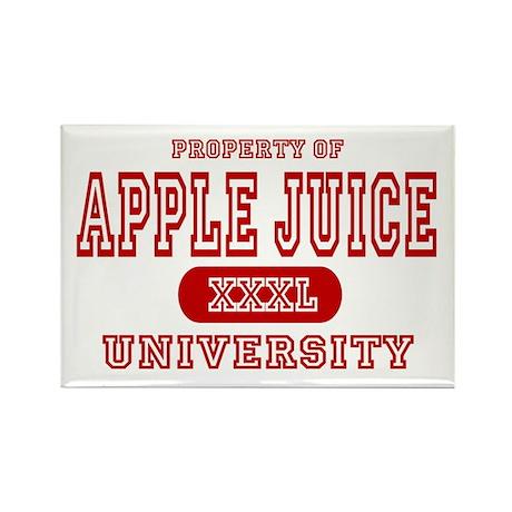 Apple Juice University Rectangle Magnet