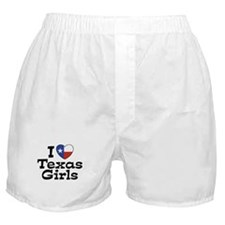 I Love Texas Girls Boxer Shorts