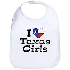 I Love Texas Girls Bib