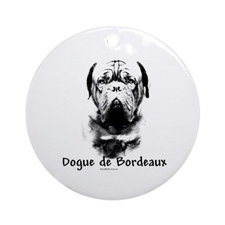 Dogue Charcoal Ornament (Round)