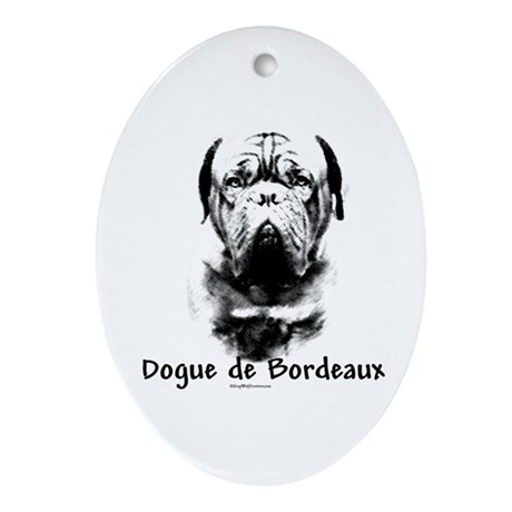 Dogue Charcoal Oval Ornament