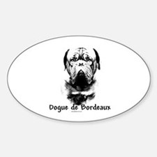 Dogue Charcoal Oval Decal