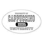 Cappuccino University Oval Sticker