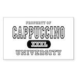 Cappuccino University Rectangle Sticker