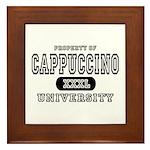 Cappuccino University Framed Tile