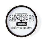 Cappuccino University Wall Clock