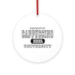 Cappuccino University Ornament (Round)