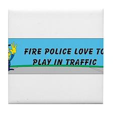 fire police Tile Coaster