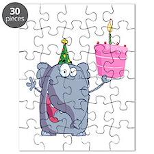 funny happy birthday elephant cartoon Puzzle