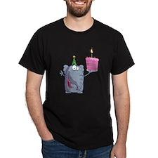funny happy birthday elephant cartoon T-Shirt