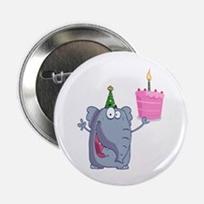 "funny happy birthday elephant cartoon 2.25"" Button"