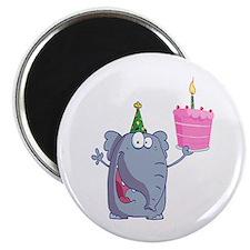 """funny happy birthday elephant cartoon 2.25"""" Magnet"""