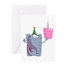 funny happy birthday elephant cartoon Greeting Car