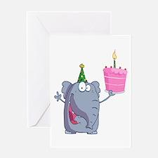funny happy birthday elephant cartoon Greeting Car
