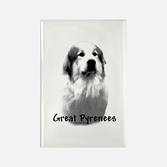Great Pyr Charcoal Rectangle Magnet