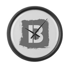 Initial Letter B. Large Wall Clock