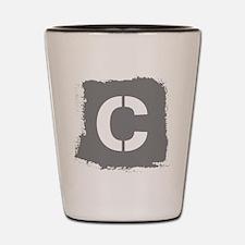 Initial Letter C. Shot Glass