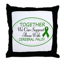 Cerebral Palsy Support Ribbon Throw Pillow