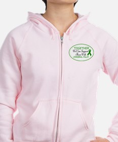 Cerebral Palsy Support Ribbon Zip Hoodie