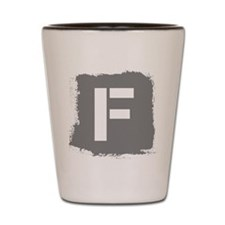 Initial Letter F. Shot Glass