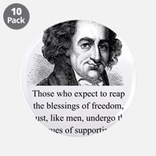 """Those Who Expect To Reap - Thomas Paine 3.5"""" Butto"""