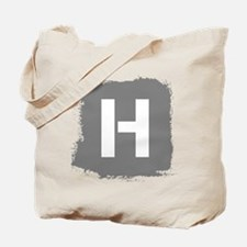 Initial Letter H. Tote Bag