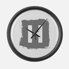 Initial Letter H. Large Wall Clock