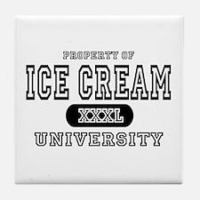 Ice Cream University Tile Coaster