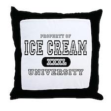 Ice Cream University Throw Pillow