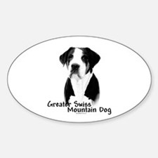 Swissy Charcoal Oval Decal