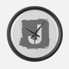Initial Letter J. Large Wall Clock