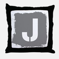 Initial Letter J. Throw Pillow