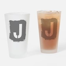 Initial Letter J. Drinking Glass