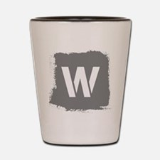Initial Letter W. Shot Glass