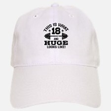 Funny 18 Year Old Baseball Baseball Cap