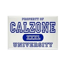 Calzone University Rectangle Magnet