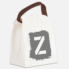 Initial Letter Z. Canvas Lunch Bag