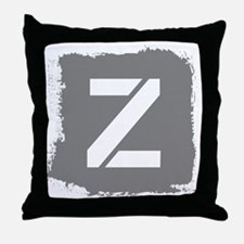 Initial Letter Z. Throw Pillow