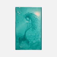 Aqua Mermaid 3'x5' Area Rug