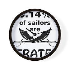 Sailors are pirates Wall Clock