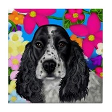 BLUE ROAN ENGLISH COCKER SPANIEL DOG Tile Coaster